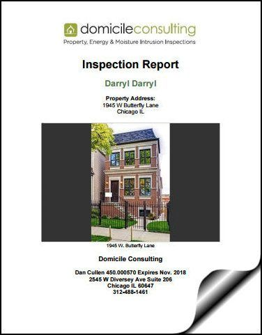 Domicile Consulting Home Inspection Sample Report